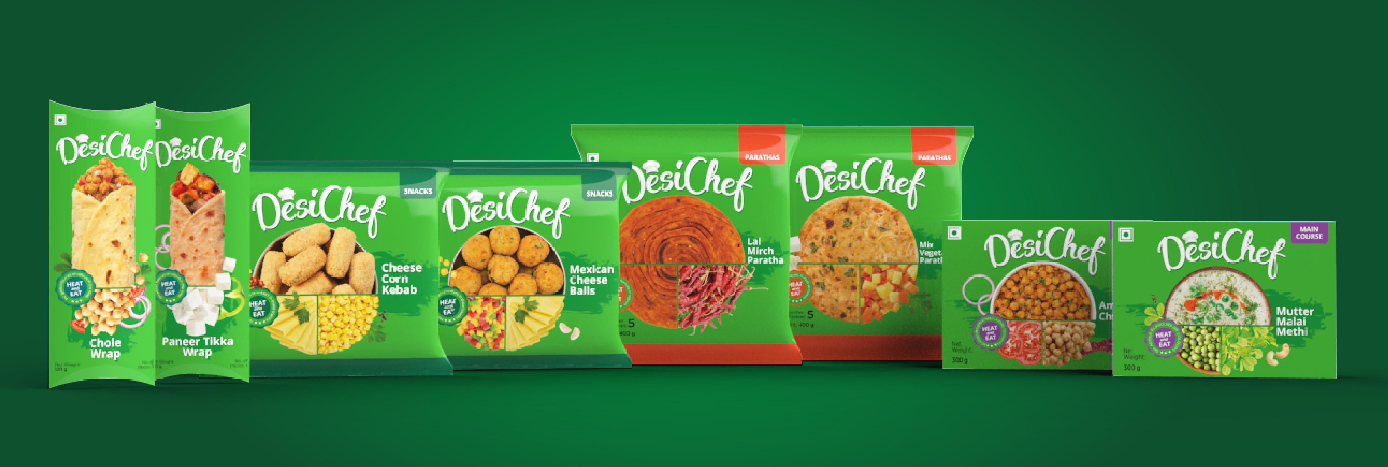 Brand & Packaging Design for Desi Chef -  Frozen food Brand