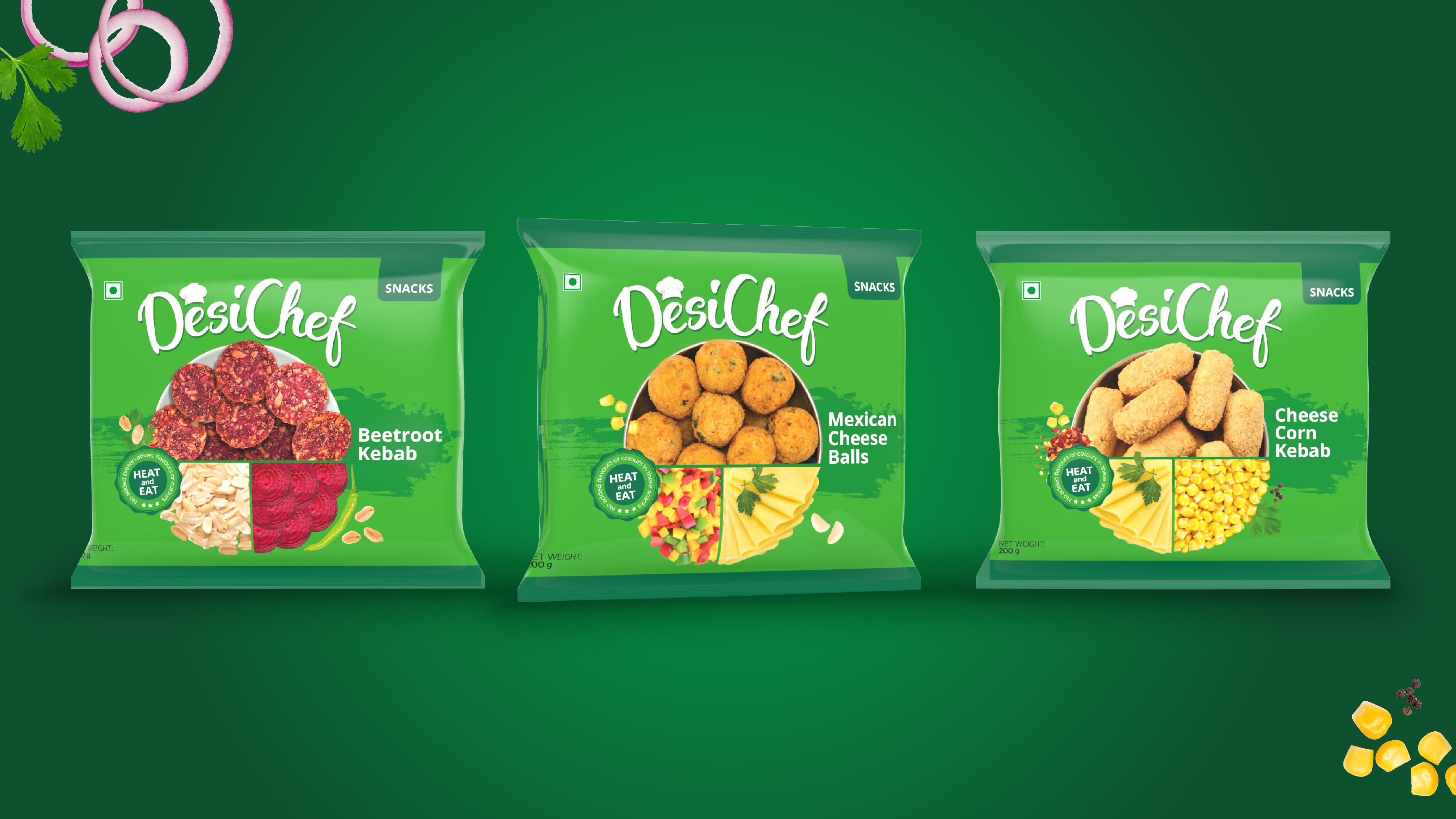 Brand & Packaging Design for Desi Chef