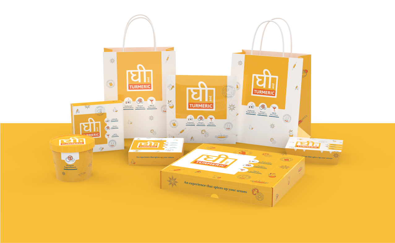 Brand & Packaging design for Food Delivery - Ghee Turmeric