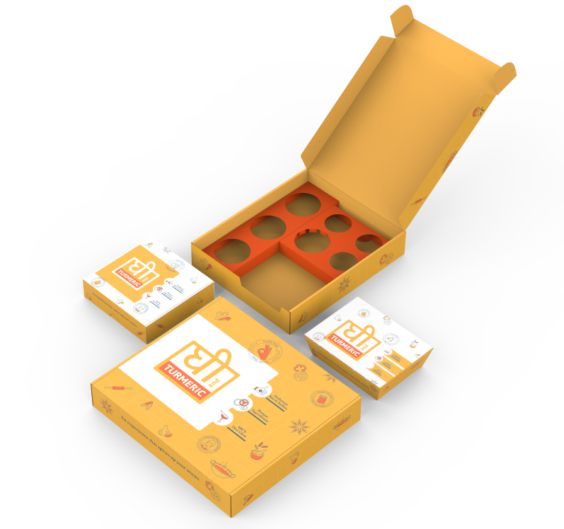Packaging design for Food Delivery - Ghee Turmeric