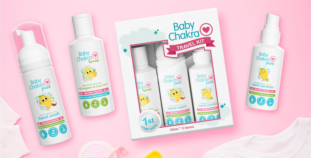 Packaging Design for Babycare Products - Baby Chakra Travel Kit