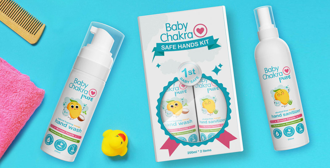 Packaging Design for Babycare Products - Baby Chakra Safe Hands Kit