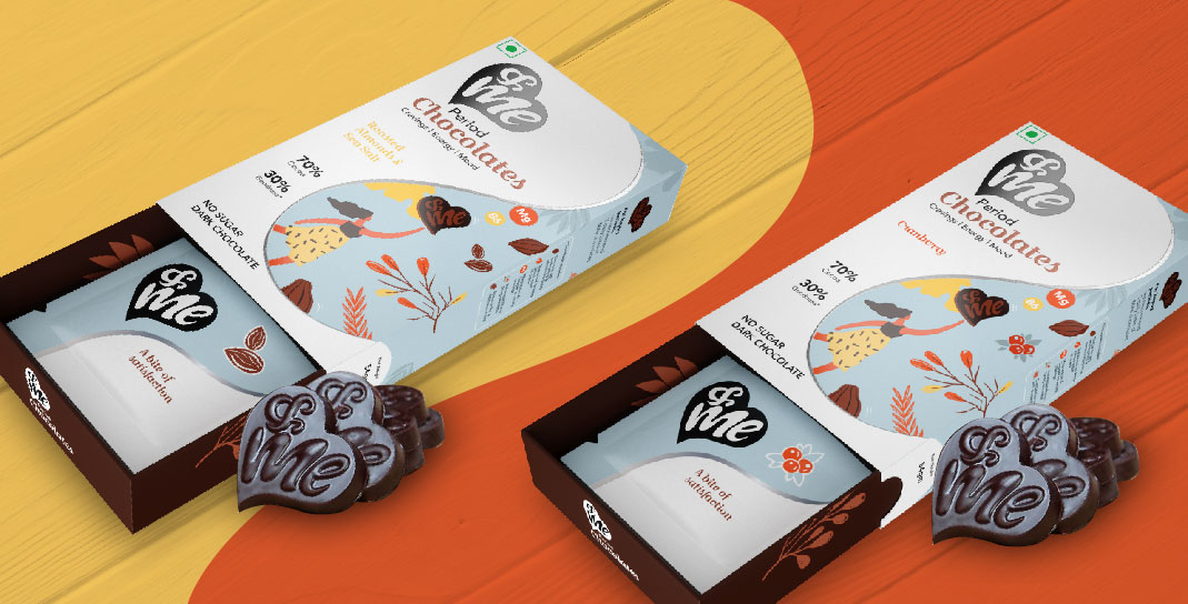 Packaging Design for Period Chocolates - Final Product