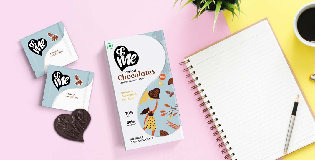 Packaging Design for Period Chocolates - &me