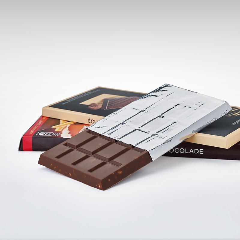 chocolate wrapped in aluminium foils