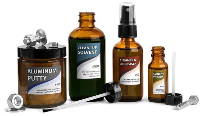 Glass bottles - chemical packaging