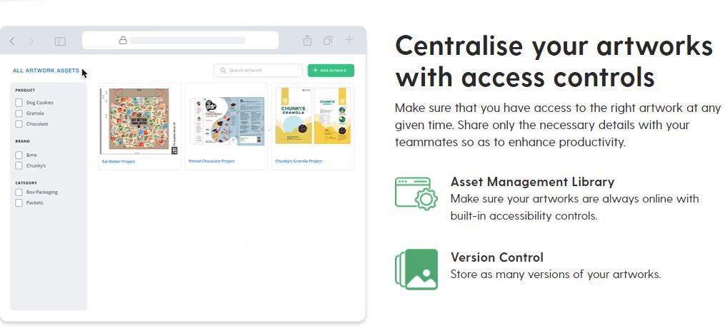 Artwork flow | Asset Management | Version control
