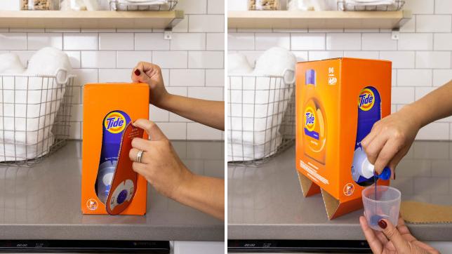 e-commerce packaging innocations - tide eco box