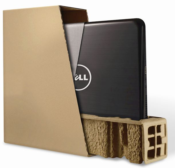 Dell- Bamboo cushion-sustainable packaging