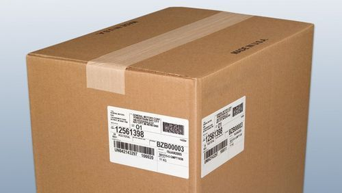 Shipping box label