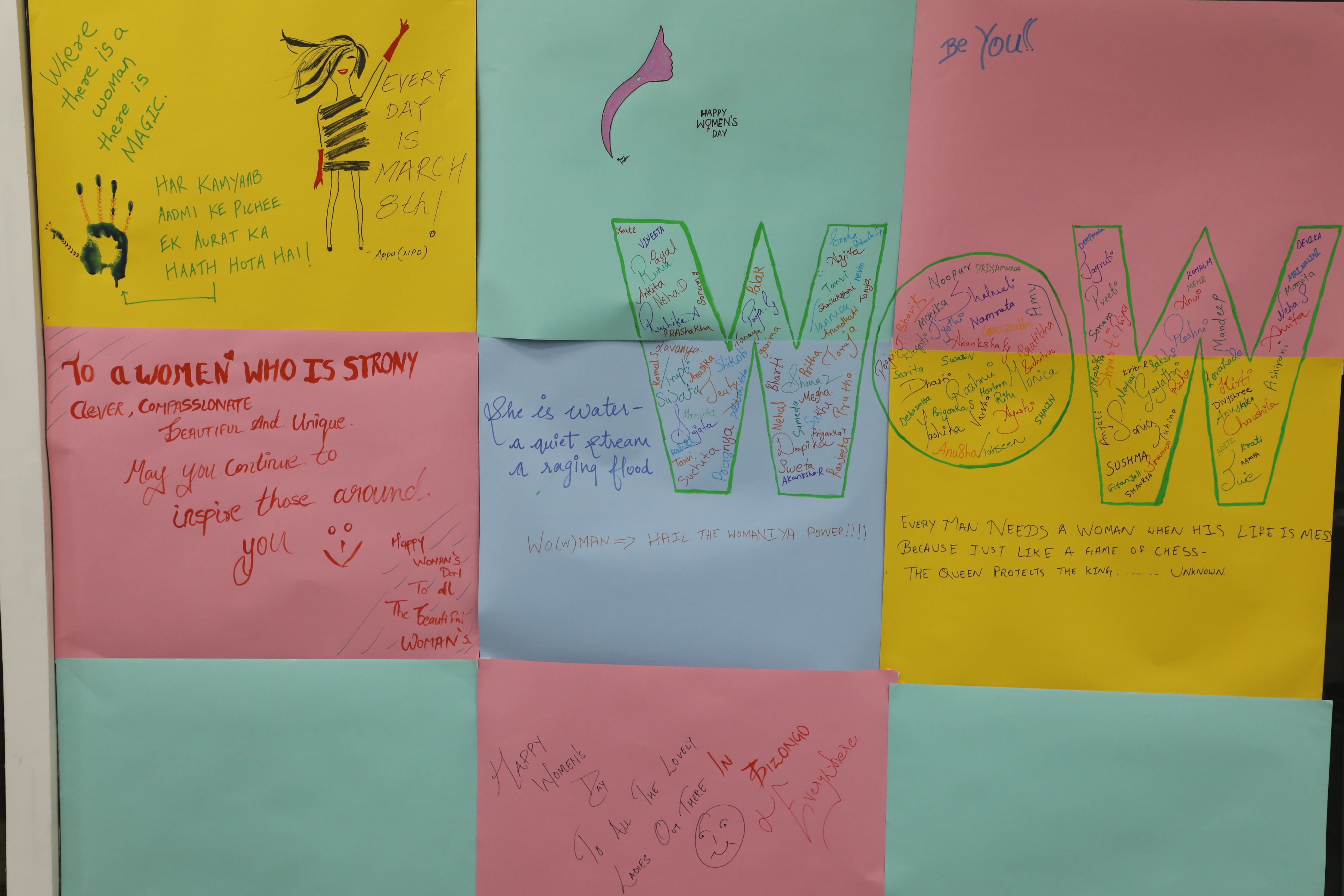 Women's day celebration - thoughtful message board