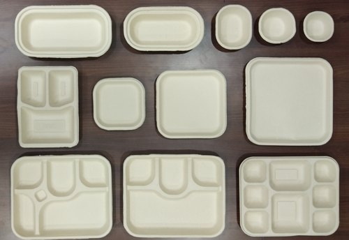 Packaging Material: Bagasse Plates & Trays