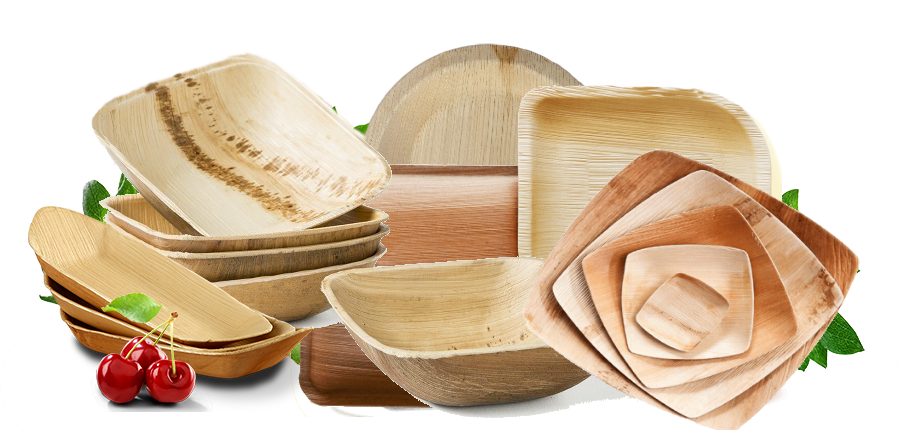 Packaging Material: Areca Leaf Plates & Trays