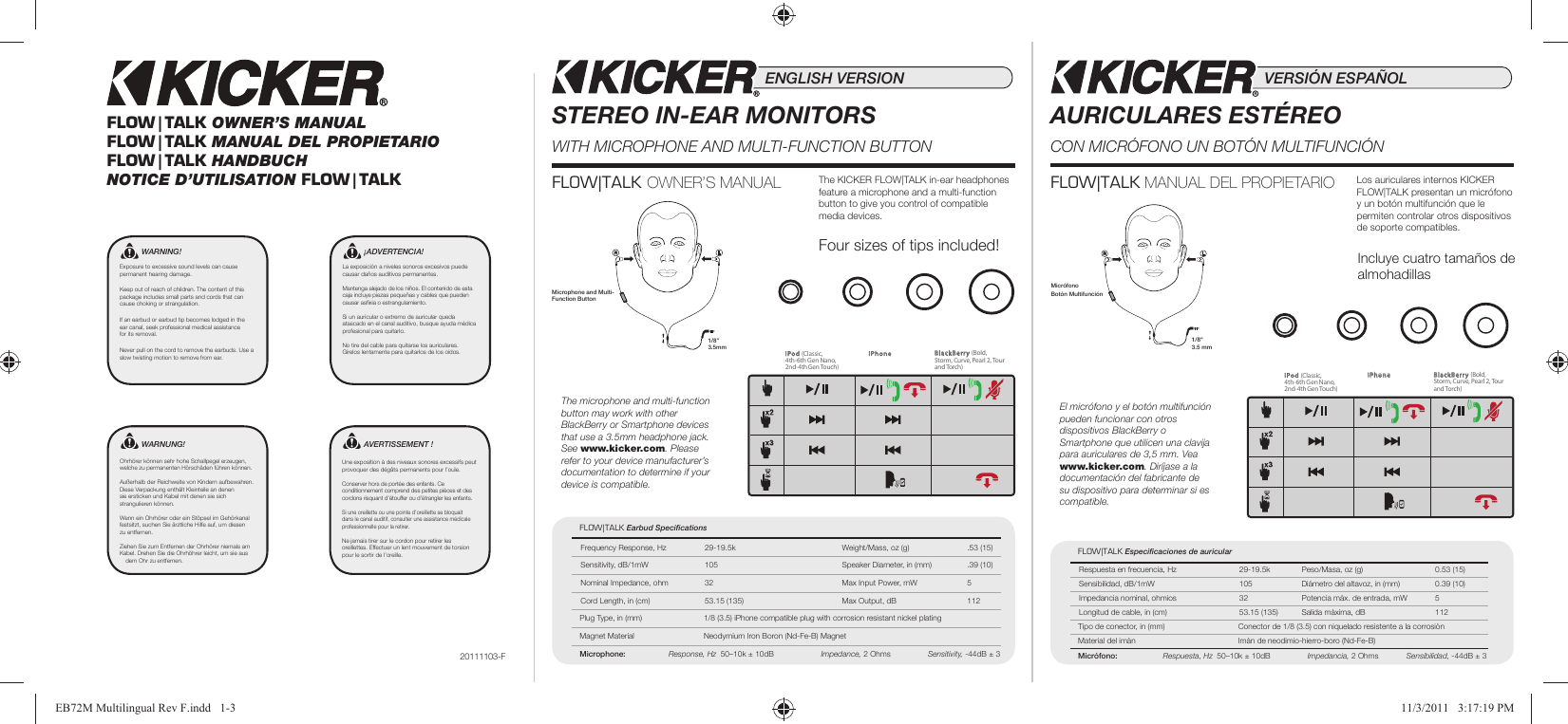Language specific packaging - multilingual user manual