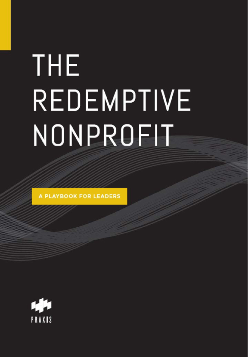 """A mockup of the book cover for """"The Redemptive Nonprofit"""""""