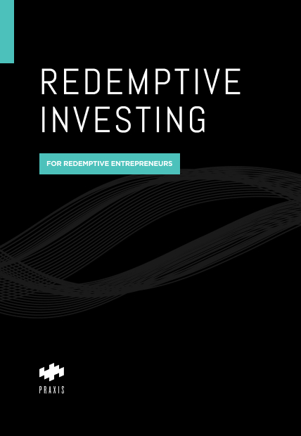 Mockup of a book cover for Redemptive Investing