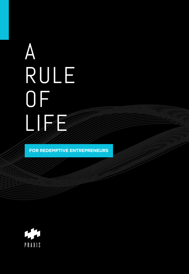 "Mockup of a book cover reading ""A Rule of Life"""
