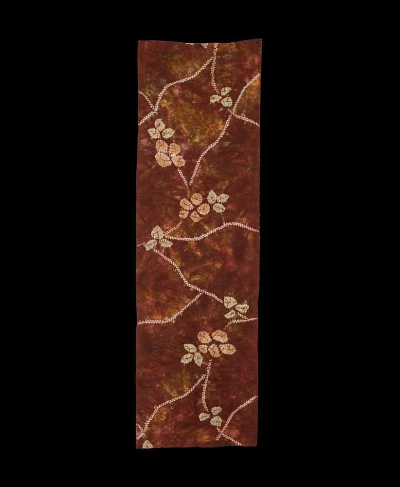 Shibori kimono panel
