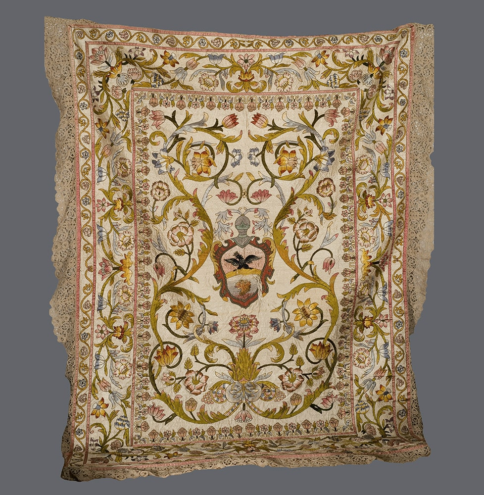 Italian Embroidered Coverlet