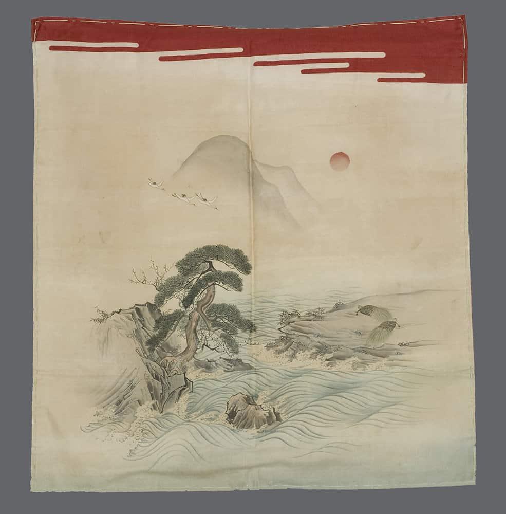 Japanese Painted Fukusa
