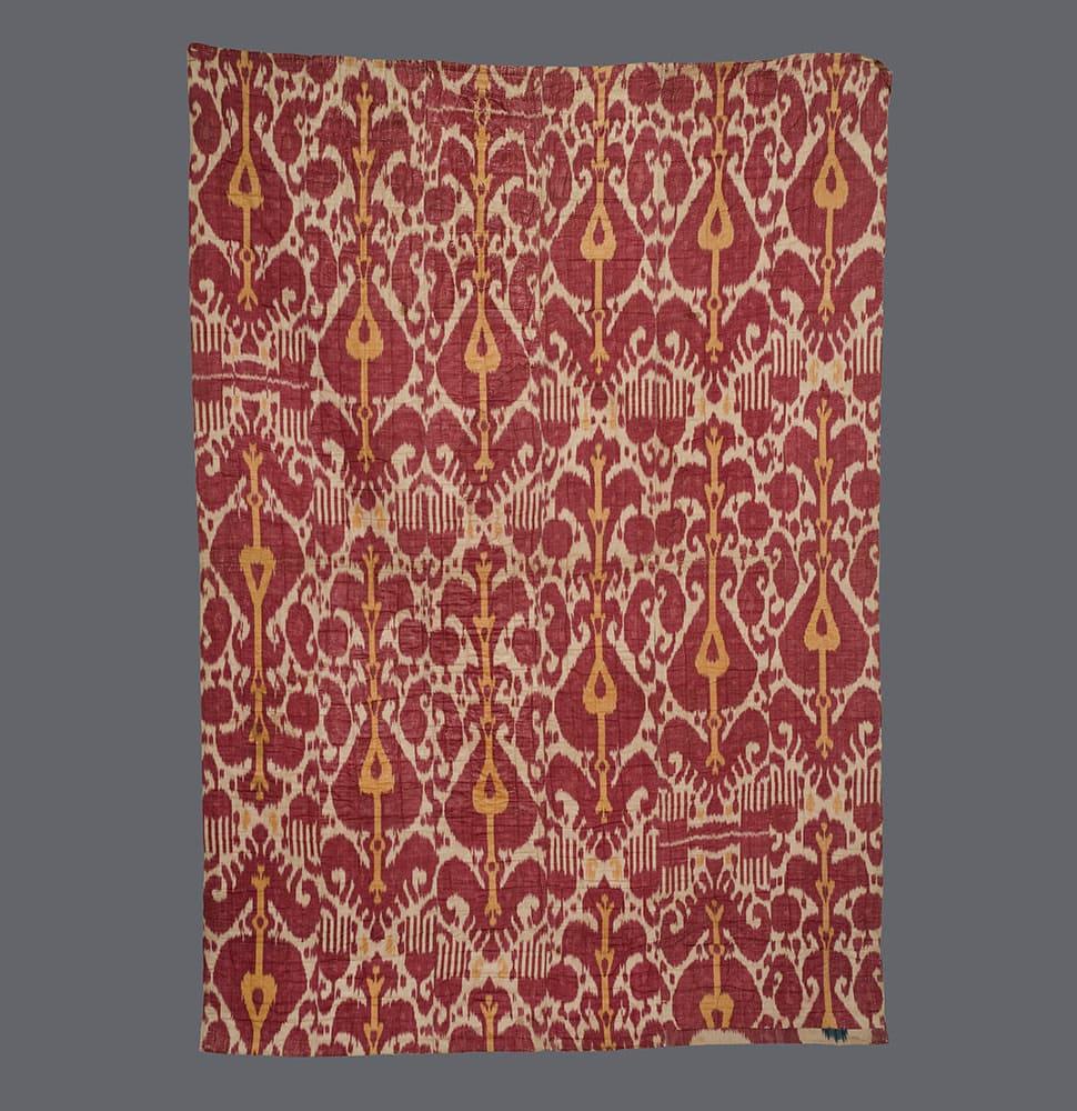 Uzbek Silk Ikat Quilt