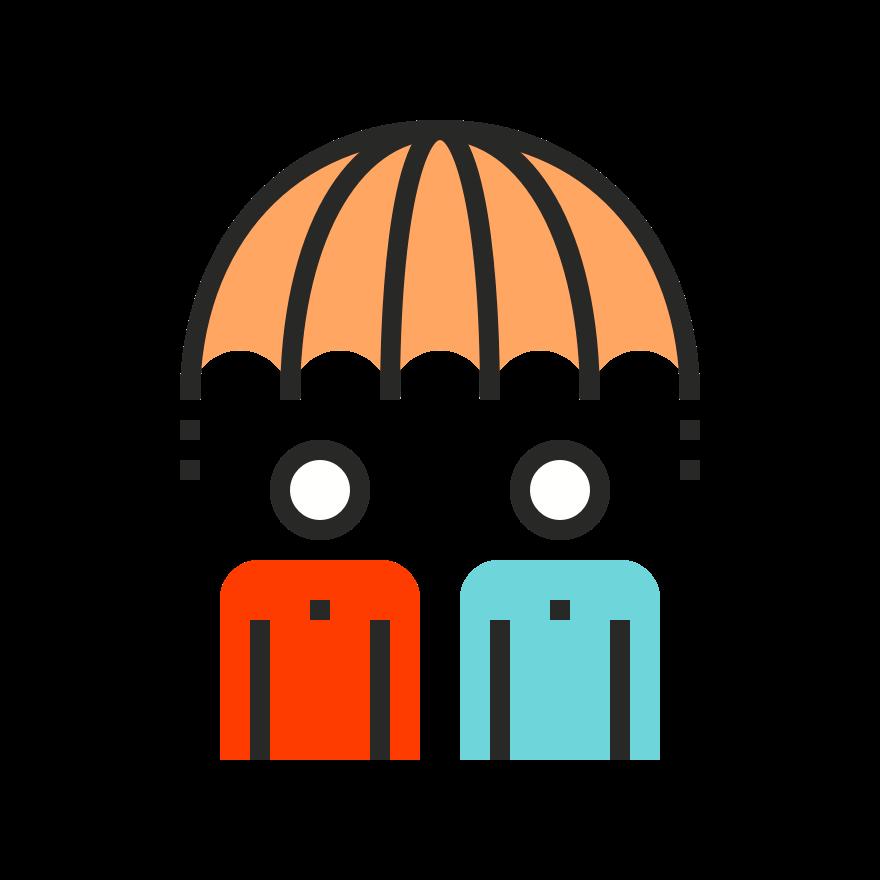 icon of couple under umbrella
