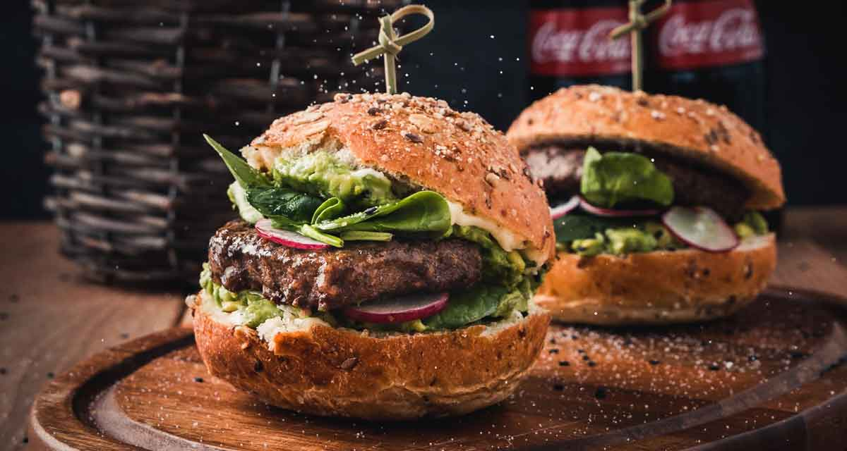 Two very tasty looking burgers.