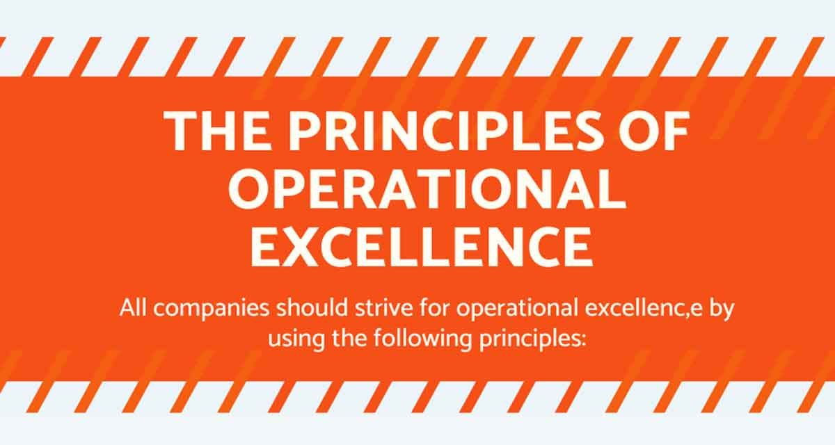 Infographic of The Principles of Operational Excellence