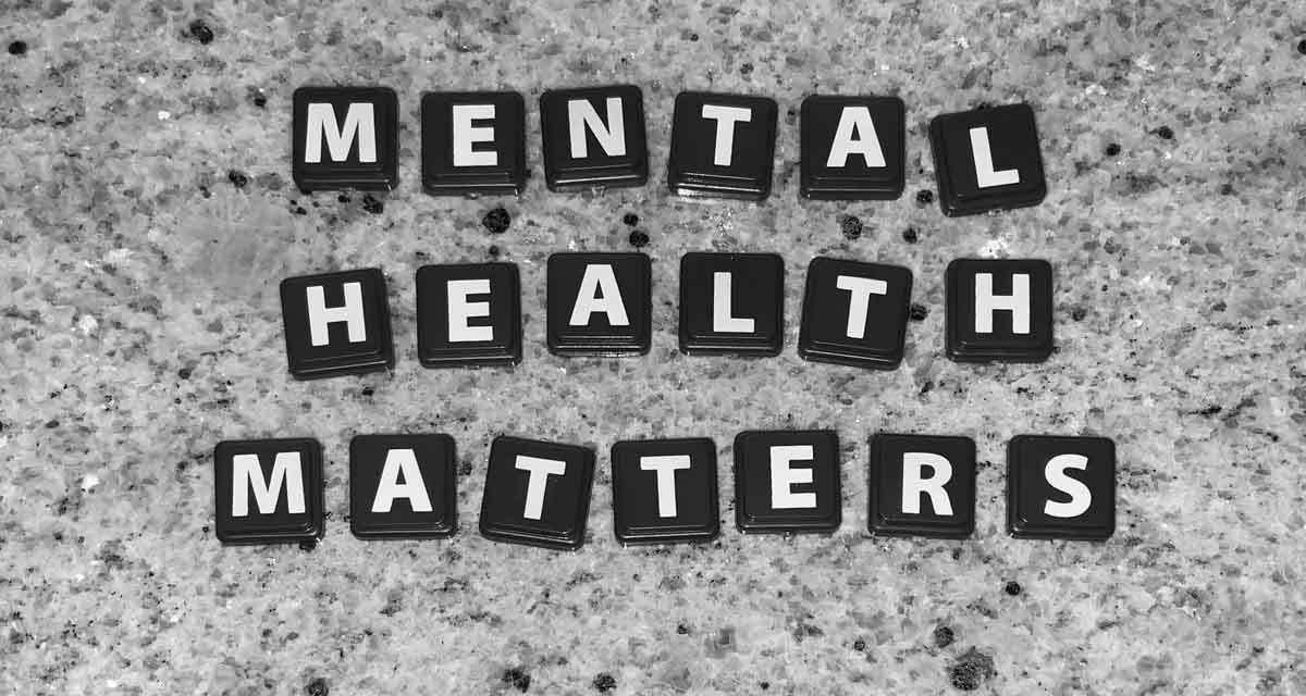 mental health matters spelt in tiles