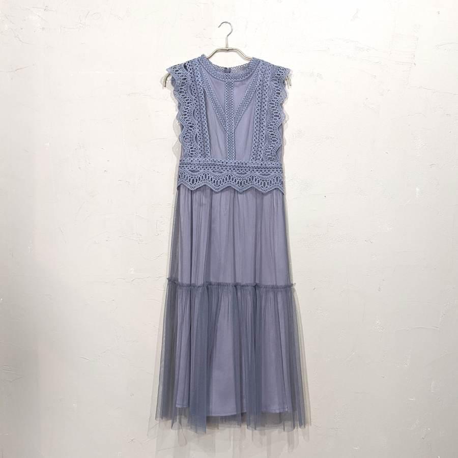 Dorry Doll レースティアードワンピース M/Freeサイズ ブルー