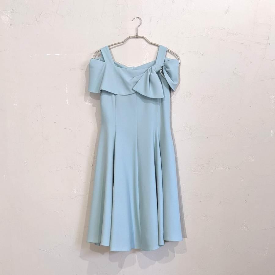 Dorry Doll デコルテリボンミディアムドレス M/Freeサイズ グリーン