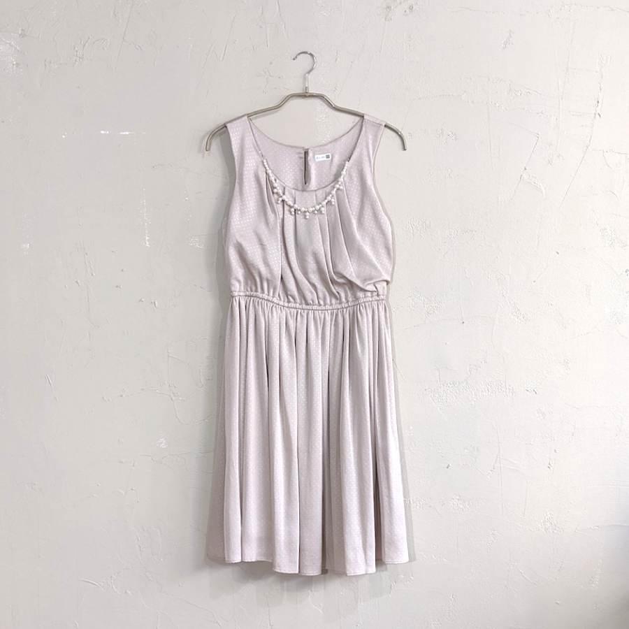 Dorry Doll ネックレス付き薄ドットワンピドレス M/Freeサイズ ピンク