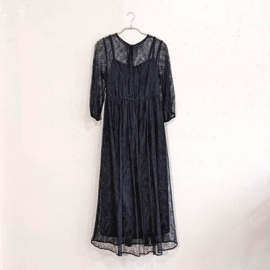 Dorry Doll 総レースシアーワンピース M/Freeサイズ ブラック