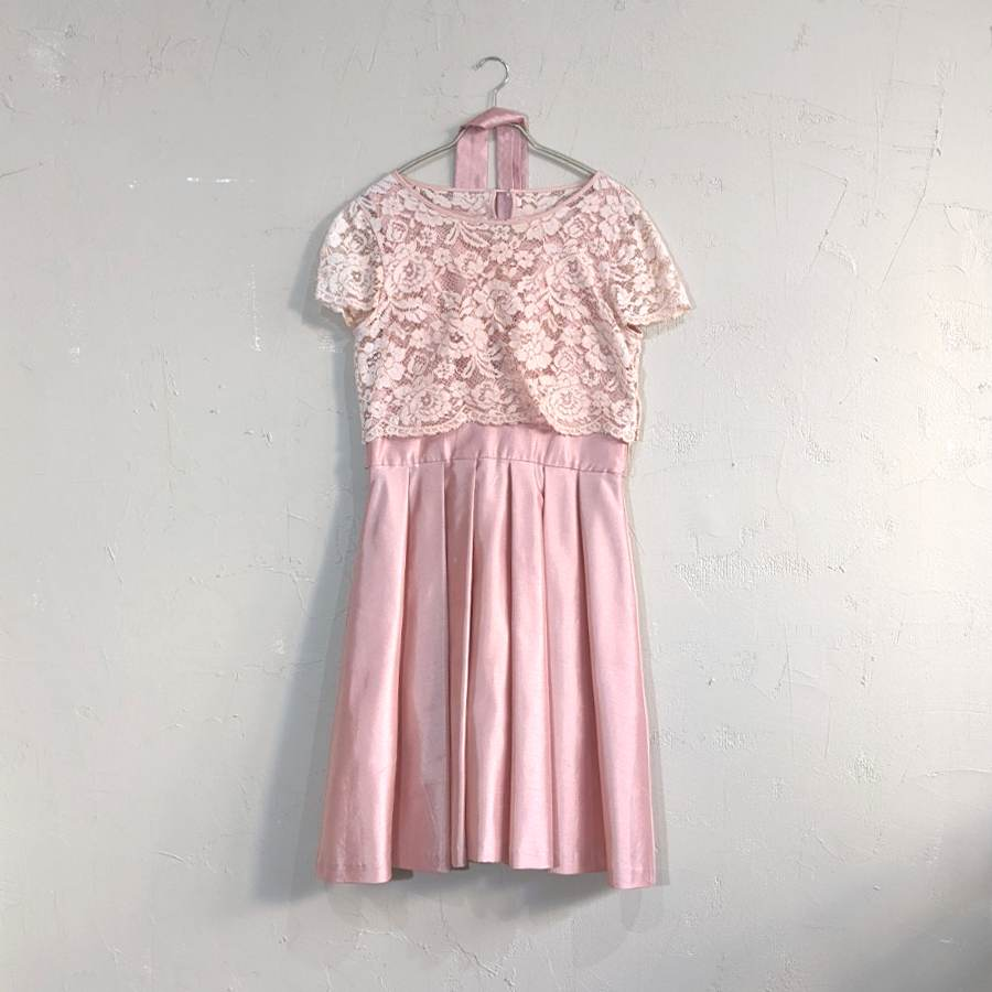 Dorry Doll レースプルオーバー付きワンピースドレス M/Freeサイズ オレンジ