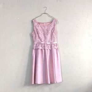 Dorry Doll ウエスト切替ノースリーブワンピースドレス M/Freeサイズ ピンク