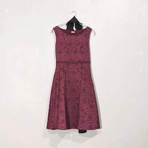 Dorry Doll 総花柄デザインワンピースドレス M/Freeサイズ レッド