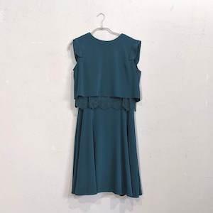 PourVous カラップレーススカートセット M/Freeサイズ グリーン