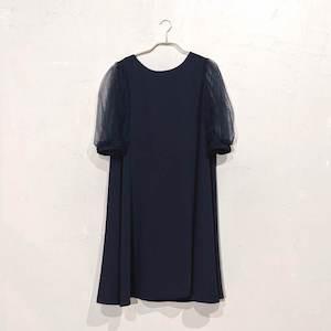Dorry Doll オーガンジースリーブドレス M/Freeサイズ ネイビー