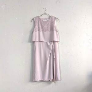 12Twelve Agenda ウエスト切替巻きスカート風ワンピースドレス M/Freeサイズ ピンク