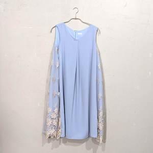 Dorry Doll Vネックタンクサイドレースドレス M/Freeサイズ ブルー