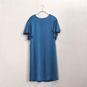 袖付きシンプルパーティードレス M/Freeサイズ グリーン