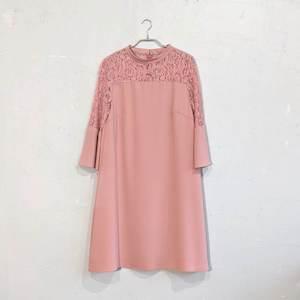 レース切替ドレス M/Freeサイズ オレンジ