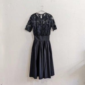 LAGUNAMOON LADYオーバーレースギャザーワンピースドレス Sサイズ ブラック