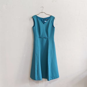 STRAWBERRY-FIELDS フェミニティメッシュワンピースドレス M/Freeサイズ グリーン