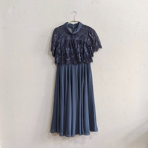 Dorry Doll rオールカラーネックレースレイヤードドレス Sサイズ グリーン