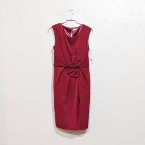 Dorry Doll ウエストリボンデザインレースアップワンピースドレス M/Freeサイズ レッド