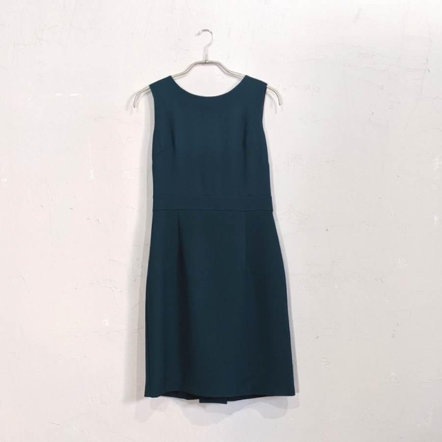 green label relaxing ショール付きコクーンワンピースドレス Sサイズ グリーン