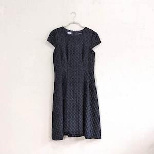 JILL STUART ドットジャガードワンピースドレス Sサイズ ブラック
