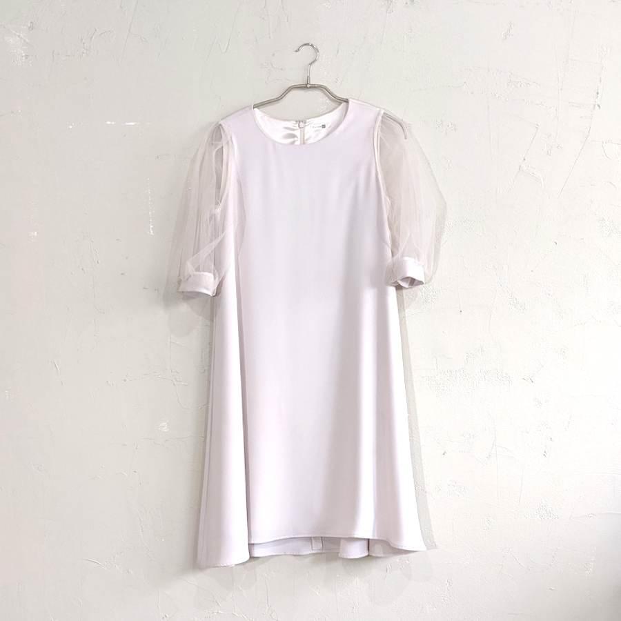Dorry Doll オーガンジースリーブドレス M/Freeサイズ ピンク