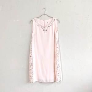 Dorry Doll Vネックタンクサイドレースドレス M/Freeサイズ ピンク